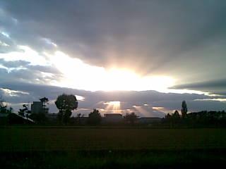 岩見沢の夕日